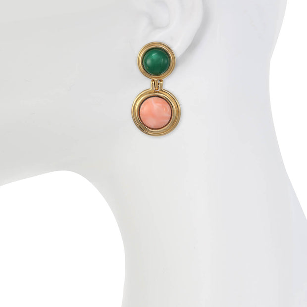 The Duoble Button Earring