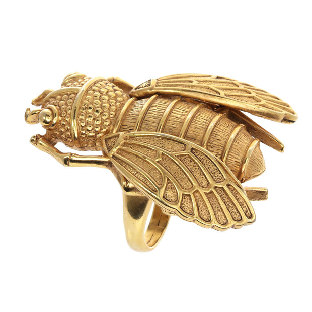 The Golden Cicada Ring