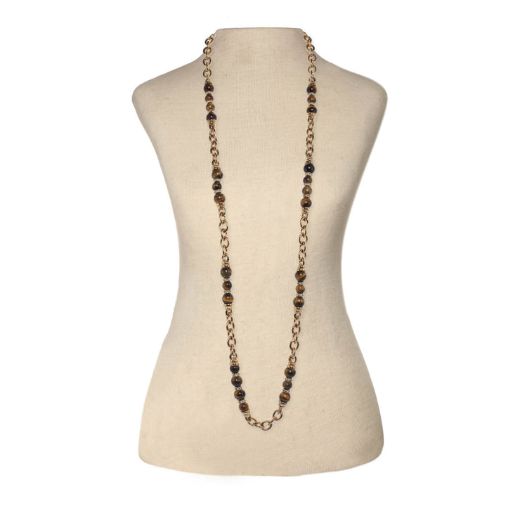 Golden Tiger's Eye Chain Necklace