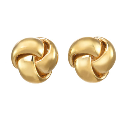 Gold Trinity Knot Earrings
