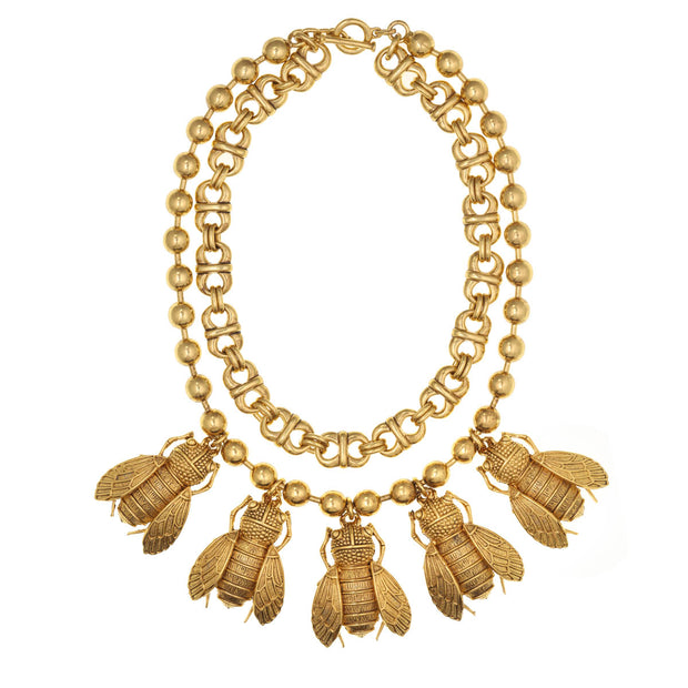 The Golden Cicada Necklace