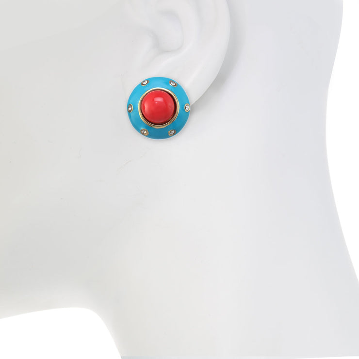 The Motley Button Earring