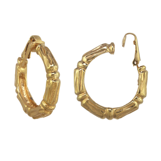 Medium Bamboo Hoop Earrings