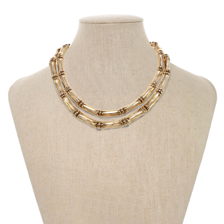Double Bamboo Necklace