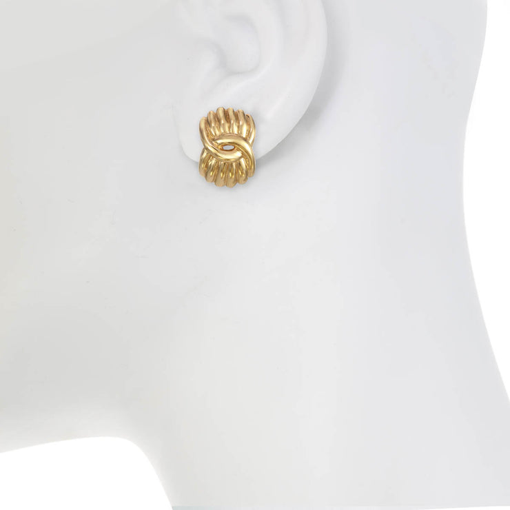 Gold Ionic Earrings