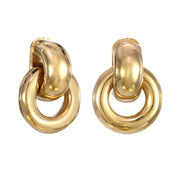 Gold Miniature Door Knocker Earring