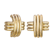 Large Gold T Earrings