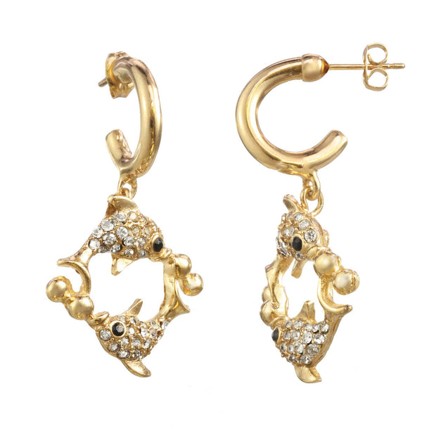 The Pisces Charm Earring