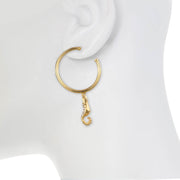 Cancer Large Hoop Earring