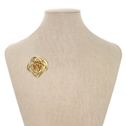 Gold Blooming Rose Pin