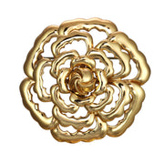 Gold Abstract Rose Pin