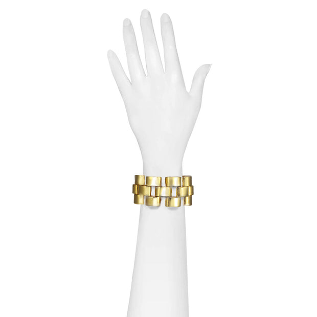 Gold Triple Brick Bracelet
