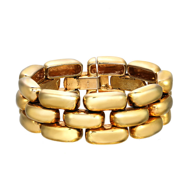 Gold Subway Soft Bracelet