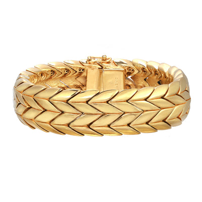 Gold Double Chevron Soft Bracelet