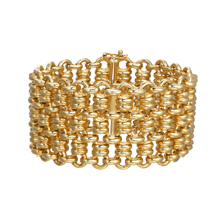 Gold Casted Mesh Soft Bracelet