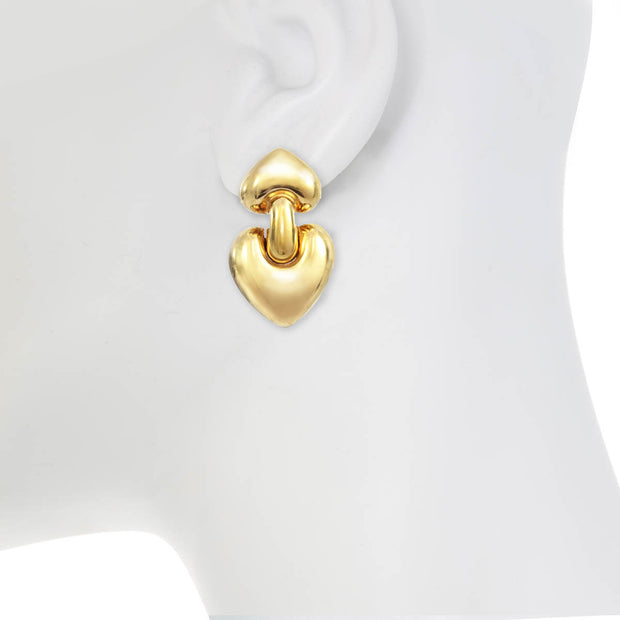 Heart of Gold Door Knocker Earrings