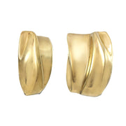 Gold Shield Earrings