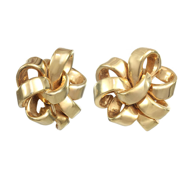 Gold Ribbon Earring