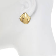 Gold Organic Earrings