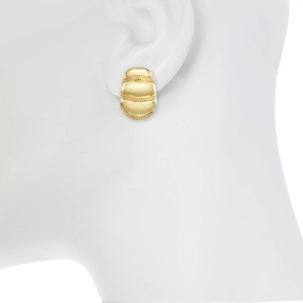 Gold Half Shrimp Earring
