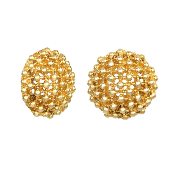 Gold Caviar Earrings