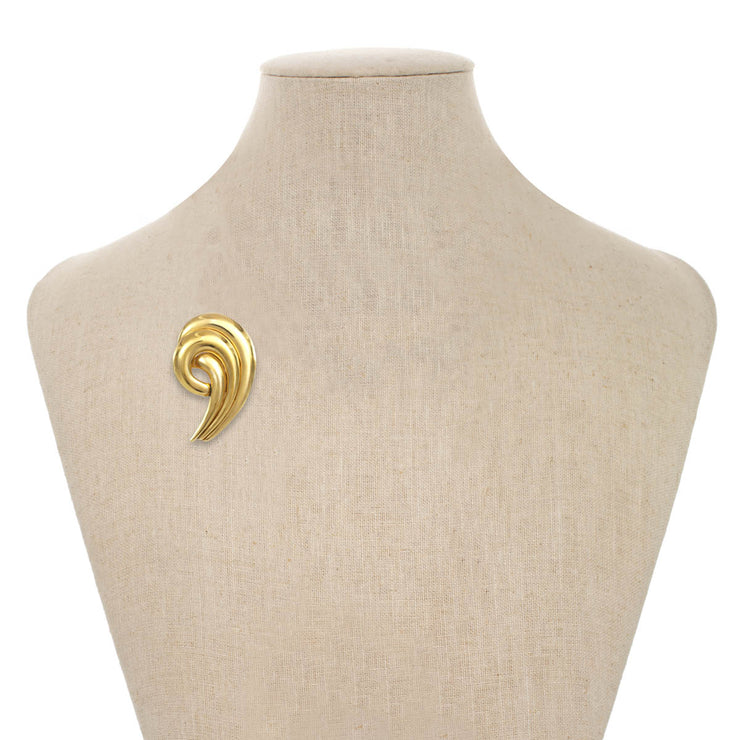 Polished Gold Swirl Pin