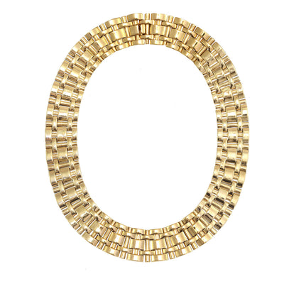 Gold Woven Link Necklace