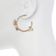 Small Vine Hoop Earrings