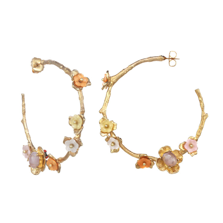Large Vine Hoop Earrings