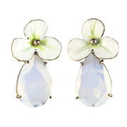 Large Rhinestone Drop Flower Earring