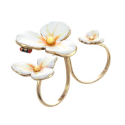 Floating Flower Ring