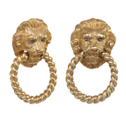 Golden King of the Jungle Door Knocker Earring