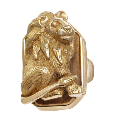 Golden King of the Jungle Earring