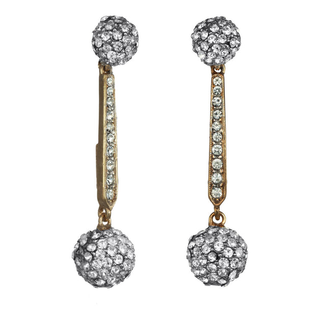 Crystal Ball Drop Earring
