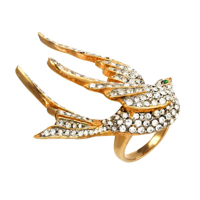 Crystal Dove Ring