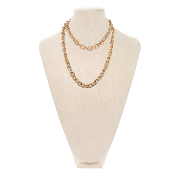 Gold Mix Textured Chain