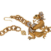 Gold Mix Textured Dragon Chain Belt