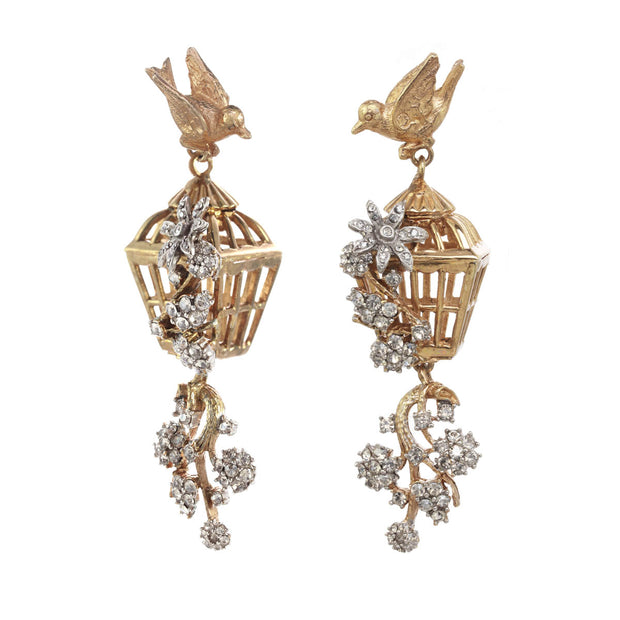 Ines x CINER Romantic Bird Cage Earrings