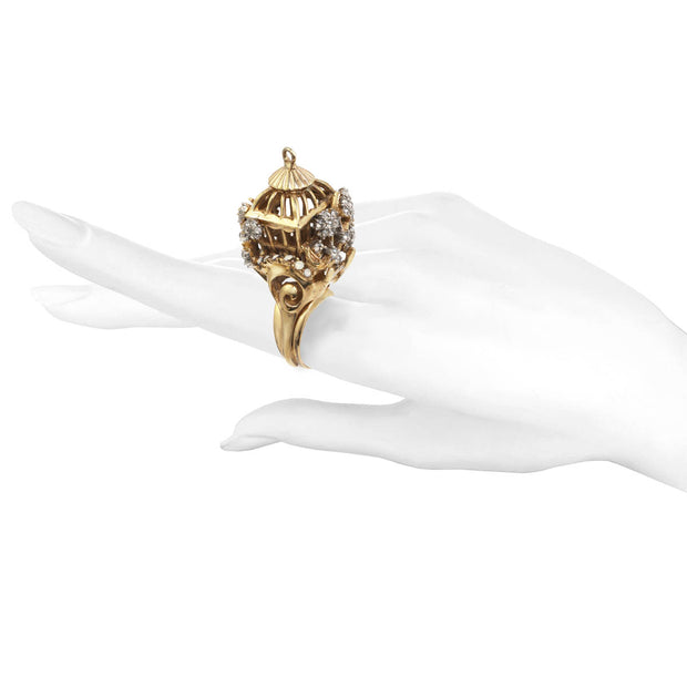 Ines x CINER Romantic Bird Cage Ring