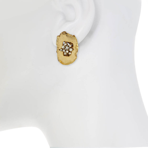 Golden Druzie Earrings