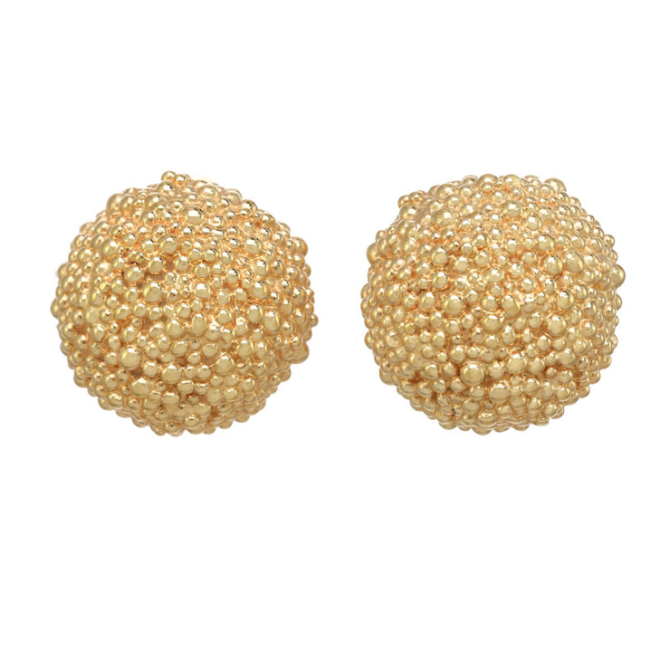 Crunchy Caviar Button Earring