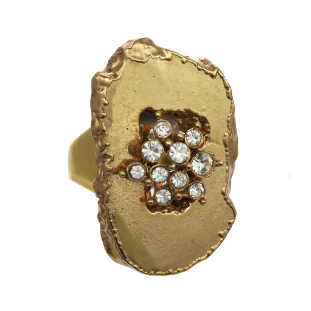 Golden Druzie Ring