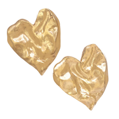 Organic Heart Earrings