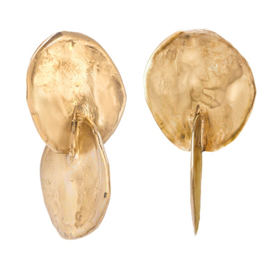 Organic Double Disc Earrings