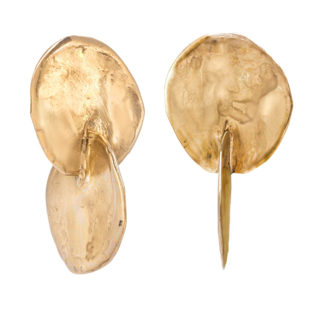 Organic Double Disc Earring
