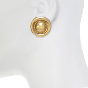 Organic Button Earring