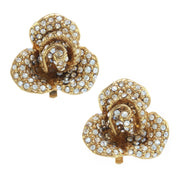Small Rhinestone Flower Earring