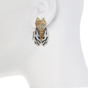 Enamel Cicada Earrings