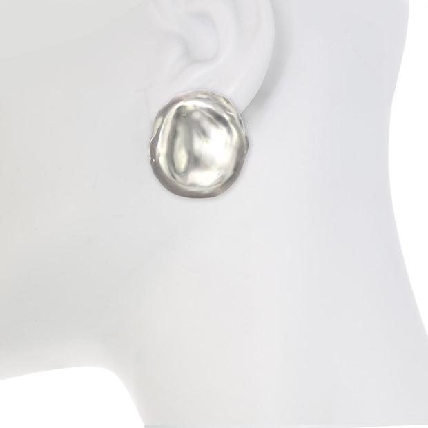 Organic Statement Button Earrings