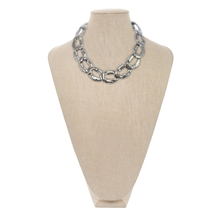 Organic Oval Link Necklace